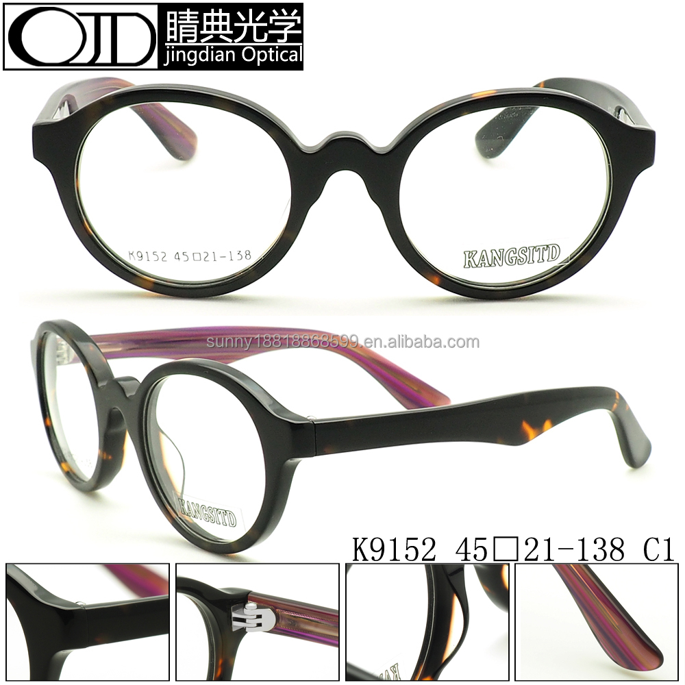 2016 new arrival Round Demo Lenses Glasses Frame Acetate Optical K9152