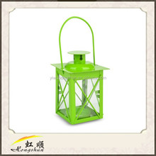 White 7'' Square Hurricane Candle Lantern For Garden Decoration