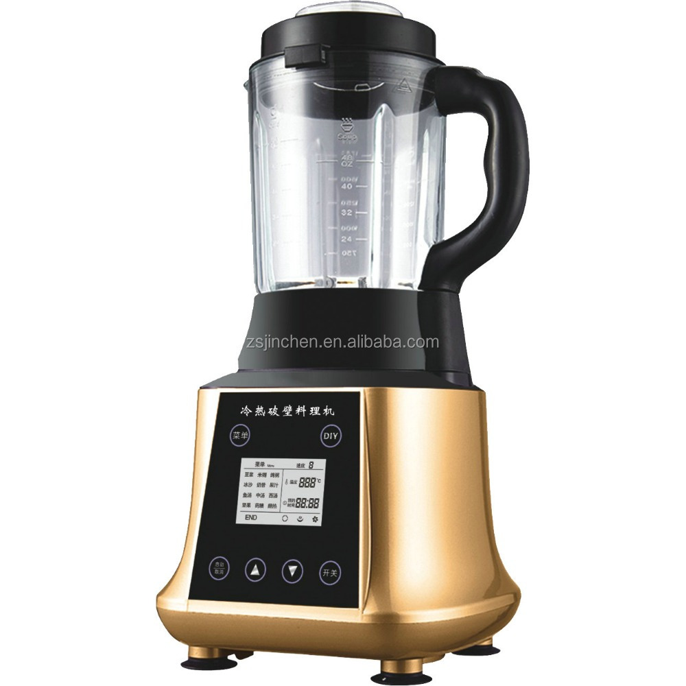 newest design, heating function blender juicer, 35000RPM, 1800W, 1.75L commercial soup maker