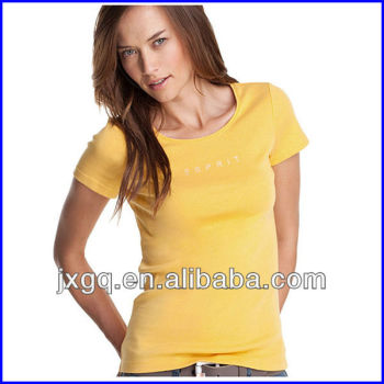 RUT-112 latest shirt designs for women women s tight t shirt