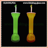 LED Flashing Plastic Yard Glass - 35OZ/1000ML
