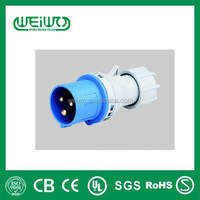 Industrial Plug male 3P+E 380-415V~ 16A 4pin single phase IP44
