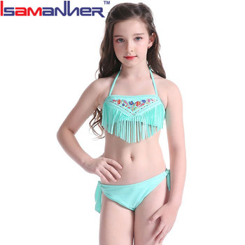New Design Fashion Girl Children Thong Sexy Kids Bikini Set In Bulk