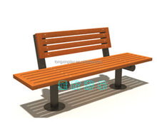 garden bench, cast alum legs, plastic wood bench