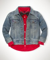 Children/Kids Boy's 2-7 Years Slim Trucker Denim Jacket