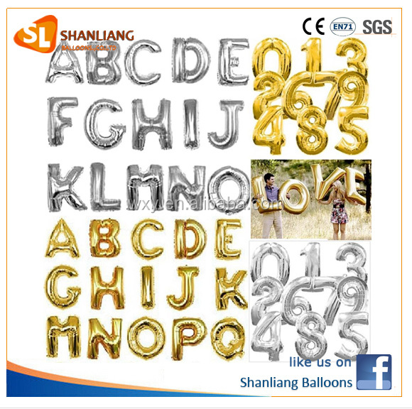 A-Z 40 Inch Silver Letter Foil balloons birthday party wedding party