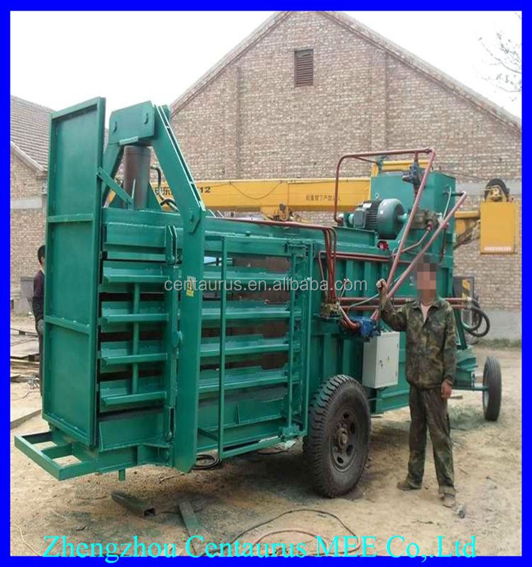 Good price hydraulic hay straw baling baler compress machine with high efficiency