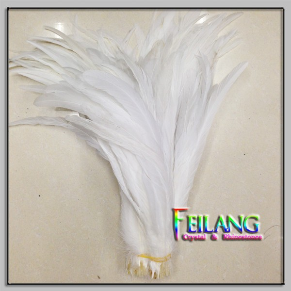 PURE WHITE Cock Chicken Feather For Hot Sale