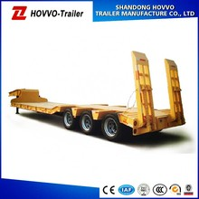 3 axle lowboy carrying excavator truck trailers with ladder optional