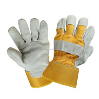 10.5 inches Yellow-cuff leather work glove