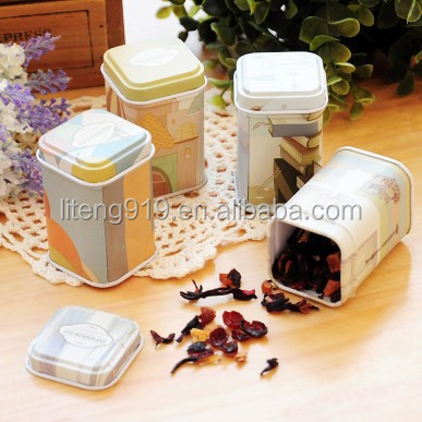nice Mini Metal Candy Trinket Tin Jewelry Iron Pill Tea Coin Storage Square Box Case LT197