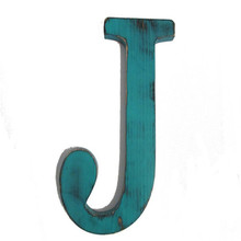 2017 new design J turquoise sign wood letter for house