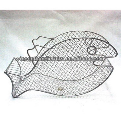 Cheap fish shape wire mesh holiday gift basket