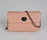 New Vintage Woven Women Leather Handbag Purse Tote Shoulder Cross Body Bag