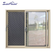 alibaba popular supplier aluminum double glass lift sliding door with security screen and insect screen