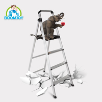 good quality home indoor super aluminium four step ladder