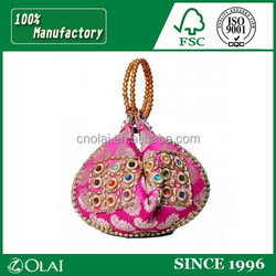 Fancy Exquisite brocade jewelry pouch bag for jade object