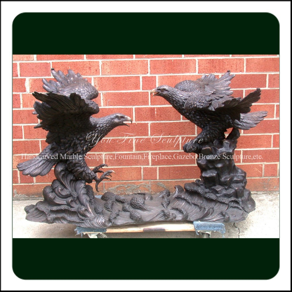 Decorative Garden Cast Bronze Outdoor Eagle Sculptures