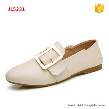 2017 Autumn Women Ladies Soft Sole Flat Shoes with Buckle