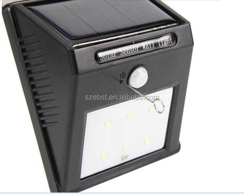 6leds manufacturer waterproof solar garden light
