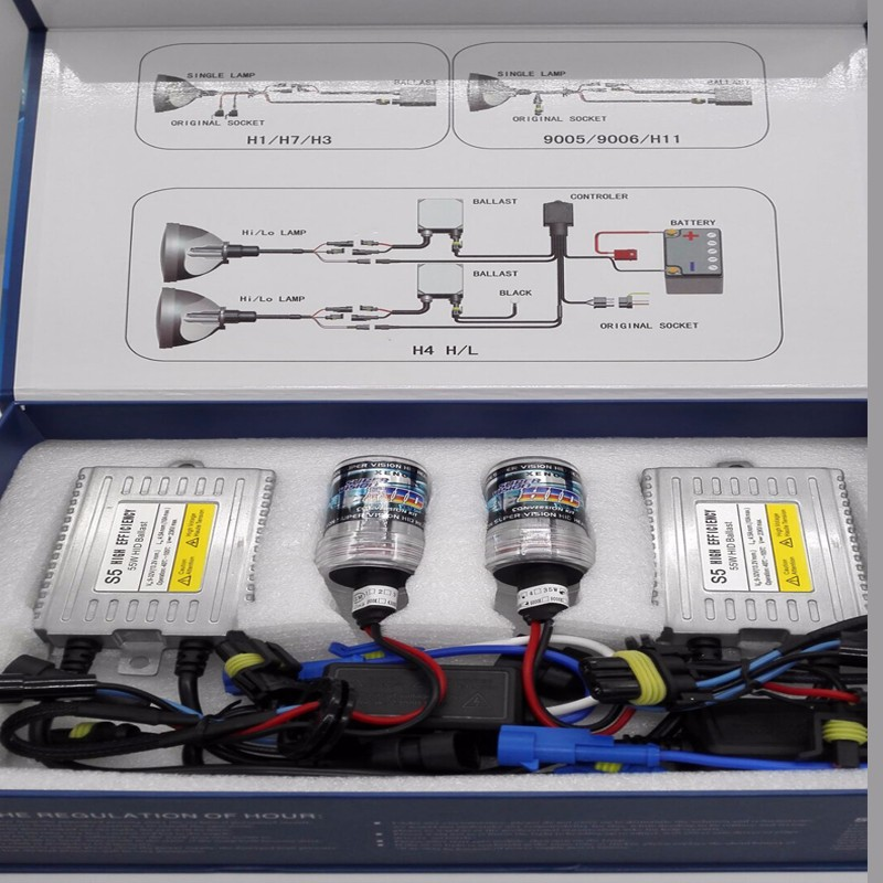 Top sale car accessories 12v 90w xenon hid headlights, super bright fast start hid kits for cars