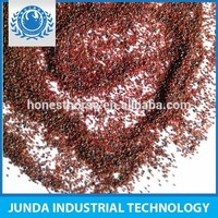 Low dust CaO 9% garnet sand for surface finishing