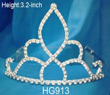 hair accessories tiara for kids metal crown decor beauty bridal/tiaras cheap wedding crystal crown acrylic