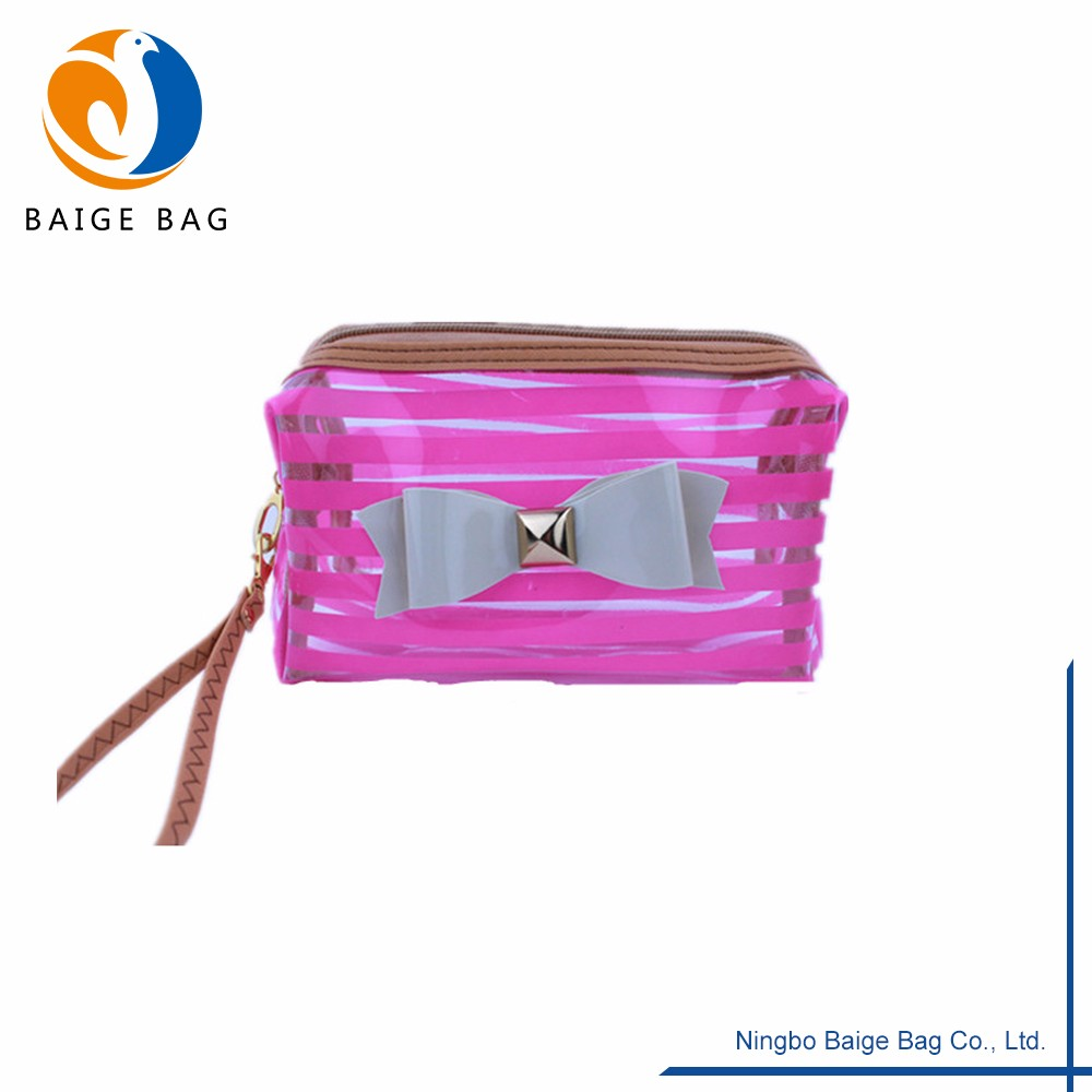 Pvc Mirror Matching Various Color Clear Makeup Train Case