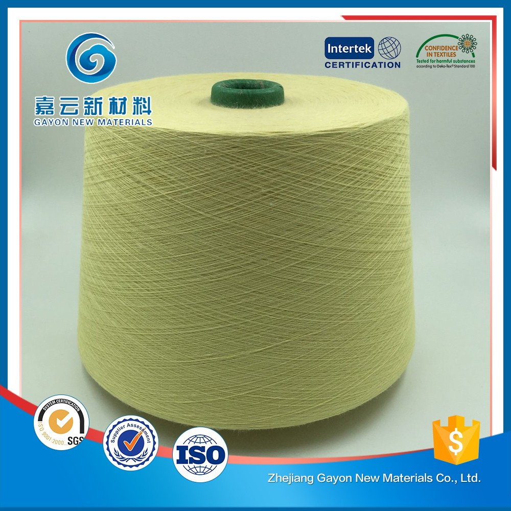 Yellow Cotton Para-aramid Flame Resistant Yarn For Aviation