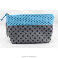 cute start cosmetic bag, blue sky make up bag, funny zipper pouch