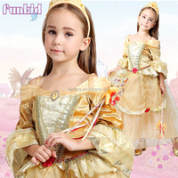 2016 new kids chirstmas golden beauty dress, children fancy party costume