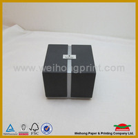 Black box packaging with silver card paper