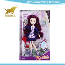 china low price products purple hair solid doll joint can be moving child love dolls for sale