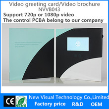 high efficiency lcd tft video greeting card