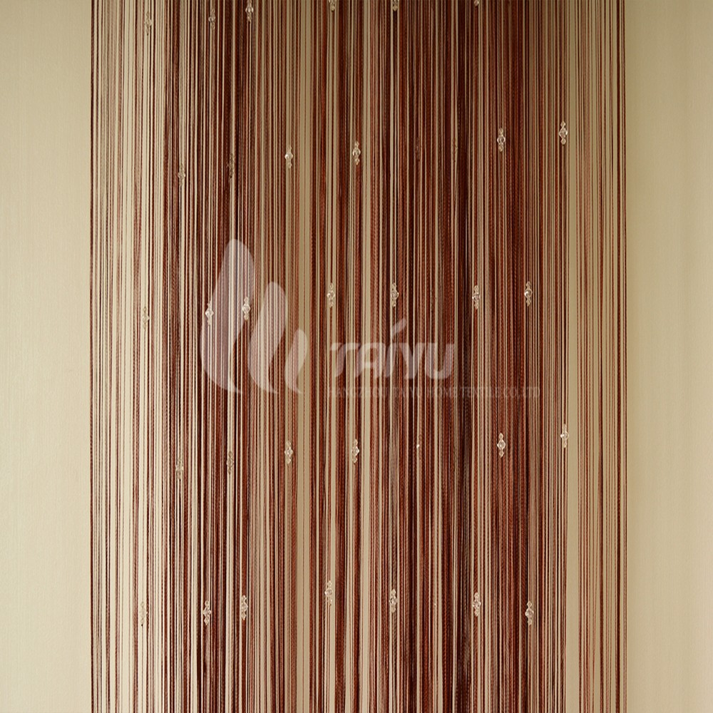 Brown hanging beaded shell door curtains buy curtains - Hanging beads for doorways ...