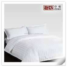 100% Cotton White 3cm Stripe Fabric Wholesale Hotel Bedding Duvet