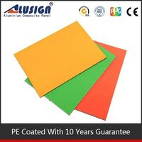 Alusign aluminum composite PE coating interior tongue and groove wall cladding