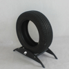 Floor standing plexiglass tire display stand metal tire display/Metal Display Stand With Wheels