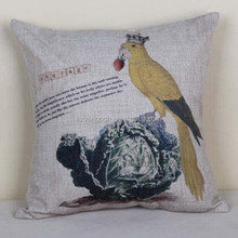 New Home Decorative Sofa Cushion Cover Throw washable Pillow Case with bird pattern