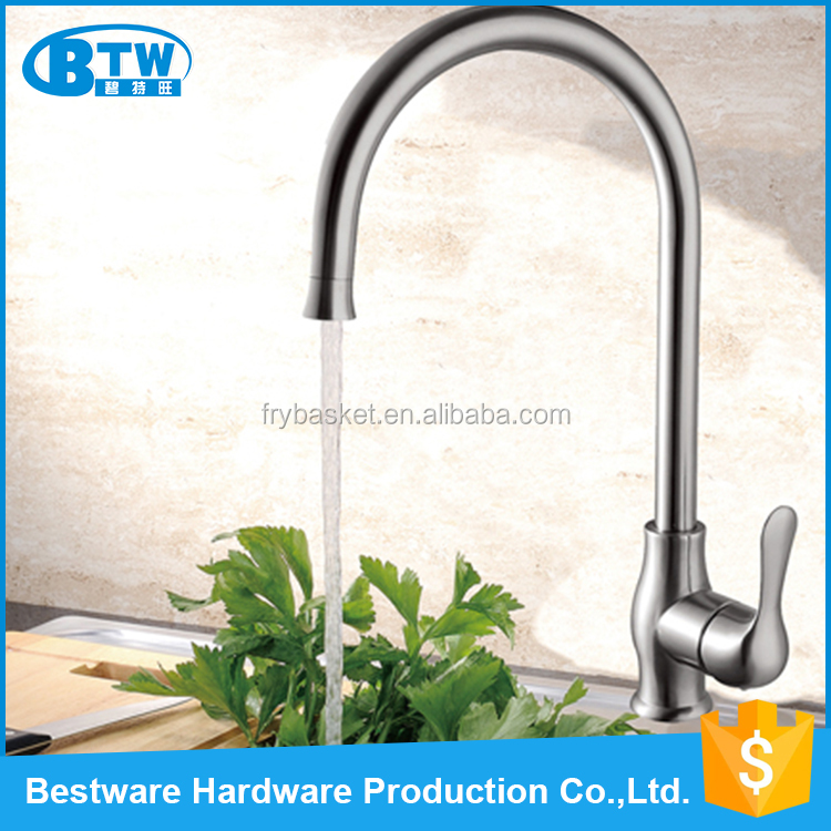 Competitive price watermark mixer faucet parts 304 stainless steel deck mounted german tap