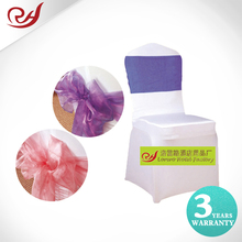China suppliers cheap purple lilac organza wedding chair sashes for sale