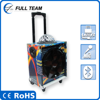 single bluetooth trolly fashion outdoor party use speaker with usb,sd,fm,eq subwoofer,built-in amplifier(teddy bear)