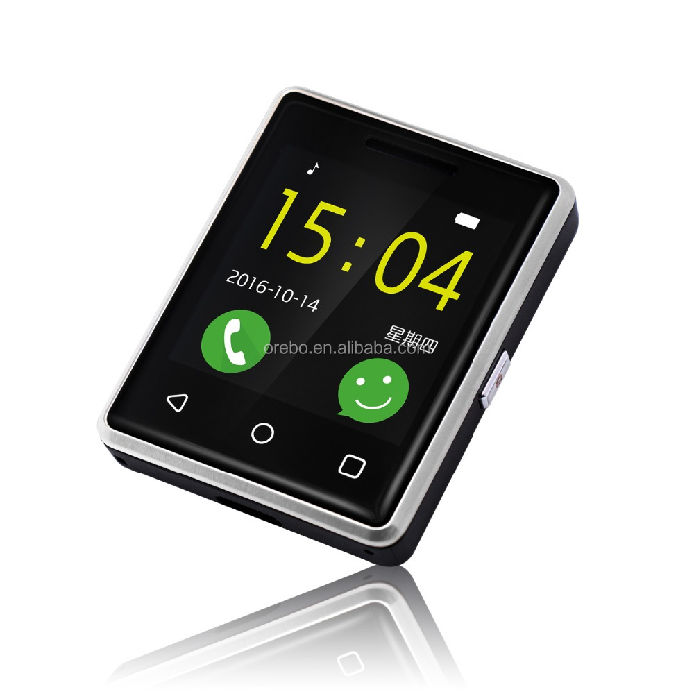 2017 Hot Selling Bluetooth small thin phone Watch Mobile Phone for ios and Android