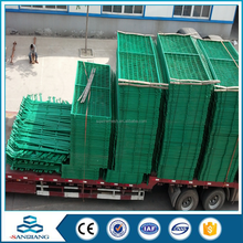 Power coated frame finishing and metal frame material temporary fence with brace anping sanqinag company