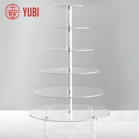 Fashion manufacture clear acrylic round cake cupcake stand