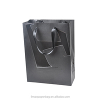 Custom Printed Gift Packaging Shopping Paper Bag With Logo Print