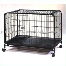 Folding pet cage trolly