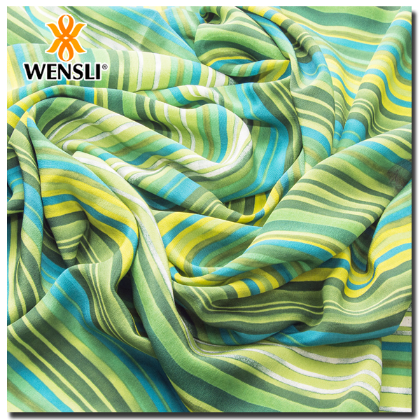 Printed Pure Silk Crepe Fabric Hot China Products Wholesale
