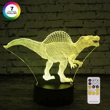 Gifs for kids 7 Colors changing with Remote Control 3D dinosaur night light