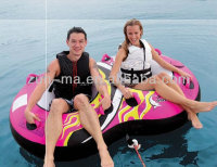 China supplier double ring water towable tubes, inflatable surfing fish towable for sale